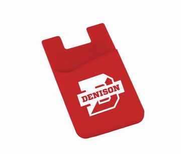 Denison Slim Silicone Card Wallet for Phone Scarlet
