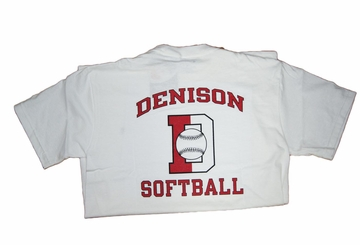 Denison Champion Softball Tee White