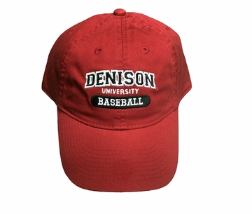 Denison Legacy Sports Hat Baseball Red