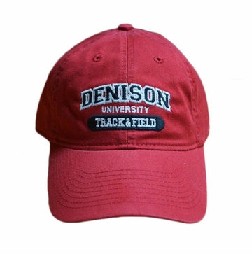 Denison Legacy Sports Hat Track and Field Red