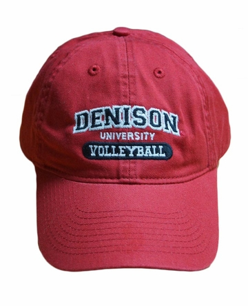 Denison Legacy Sports Hat Volleyball Red