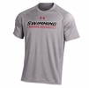 Denison Under Armour Swimming NuTech Tee Short Sleeve True Gray Heather