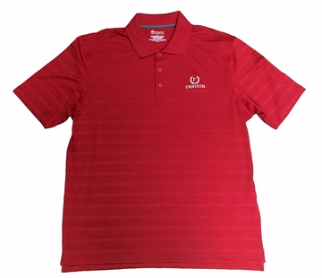 Denison Champion Textured Solid Polo w/ Laurels Logo Scarlet