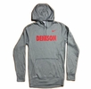 Denison Nike Therma-Fit Fleece Hoodie Grey Sweatshirt