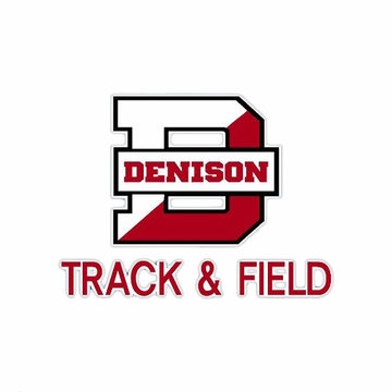 Denison Track & Field Car Decal
