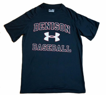 Denison Under Armour Baseball Short Sleeve Black