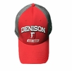 Denison Under Armour Birds Eye Mesh Trucker Cap Red