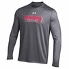 Denison Under Armour Lacrosse Long Sleeve NuTech Tee Carbon