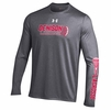 Denison Under Armour Lacrosse Long Sleeve Tech T Carbon Heather