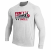 Denison Under Armour Protect This House Football Long Sleeve  Tee White