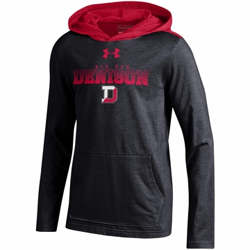 Denison Under Armour SMU Youth Charged Cotton Hoody Black/ Red