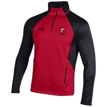 Denison Under Armour SMU Fleece 1/4 Zip Red/ Black