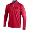 Denison Under Armour Soccer Charged Cotton 1/4 Zip Red