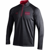 Denison Under Armour Swimming Charged Cotton 1/4 Zip Black/ Red