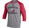 Denison Under Armour Triblend Baseball Tee Retro Red