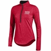 Denison Under Armour Womens Lacrosse Charged Cotton 1/4 Zip Red/ Black