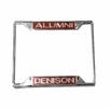 Denison University Alumni Metal License Plate Holder
