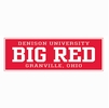 Denison University Big Red Collegiate Banner 12x36""