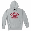 Denison University Champion Reverse Weave Grey Hoodie