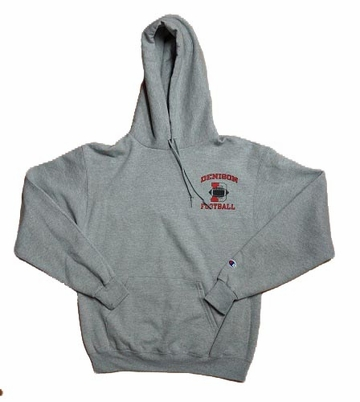Denison Champion Hoodie Football Grey