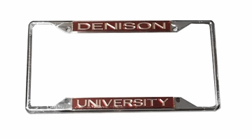 Denison University Metal License Plate Holder