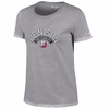 Denison Champion Short Sleeve Arched Logo Tee Oxford Heather