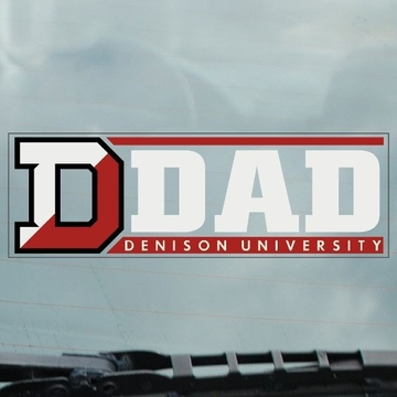 Denison University Static Cling Dad Decal
