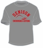 Denison MV Swimming and Diving Tee Storm Grey