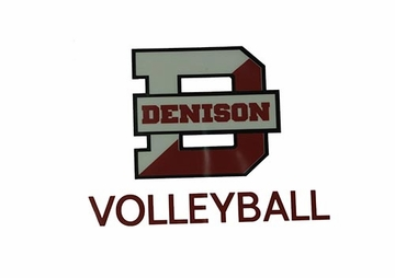 Denison Volleyball Car Decal