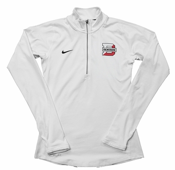 Denison Womens Nike 1/2 Zip Tailgate Element White/ Black