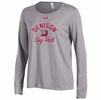 Denison Womens Champion Charged Cotton Long Sleeve Tee True Gray Heather