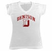 Denison Womens MV Vivianne V-Neck Tee White