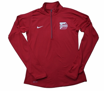 Denison Womens Nike 1/2 Zip Tailgate Element Red/ White