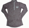 Denison Womens Nike DriFit Element 1/2 Zip Dark Maroon