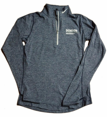 Denison Womens Nike DriFit Element 1/2 Zip Dark Navy