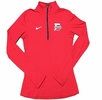 Denison Womens Nike DriFit Element 1/2 Zip Red