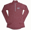 Denison Womens Nike DriFit Element 1/2 Zip University Red