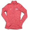 Denison Womens Nike DriFit Element 1/2 Zip University Red Heathered