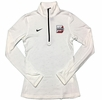 Denison Womens Nike DriFit Element 1/2 Zip White