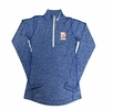 Denison Womens Nike Lacrosse DriFit Heath 1/4 Zip Royal