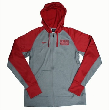 Denison Womens Nike Thermafit FullZip Fleece Red
