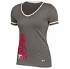 Denison Womens Under Armour Shirzee Tee Legacy Grey