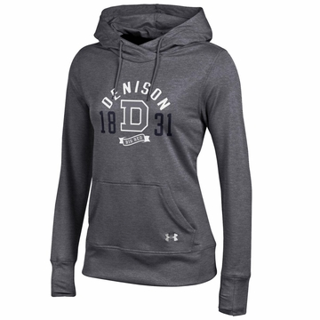 Denison Womens Under Armour French Terry Pullover Hoodie Carbon Heather