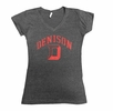 Denison Womens MV Vivianne V-Neck Tee Charcoal