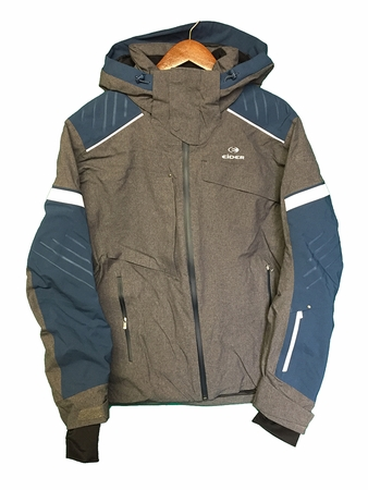 Eider Mens Beavercreek Jacket Ghost Heather/ Midnight Blue