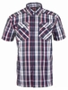 Eider Mens Dartmoor Shirt Garnet/ Dark Night