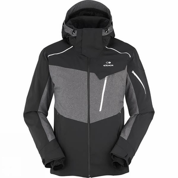 Eider Mens Deer Valley Jacket Black/ Ghost Heather