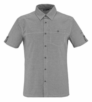 Eider Mens Manas Shirt Dark Grey Check
