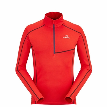Eider Mens Montana 1/2 Zip Red Lava