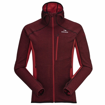 Eider Mens Shift Wool Hoodie Chili Red